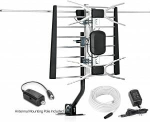 ViewTV WA-2800 Digital Amplified Outdoor-Indoor Attic HDTV Antenna with Mounting Pole reviews and user guide