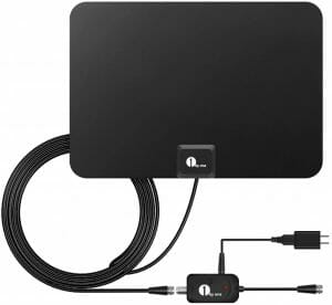 1byone Indoor Amplified HDTV Antenna reviews and user guide